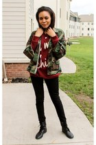 camo Camo Jacket jacket - cotton Oh My Chic Sweater sweatshirt