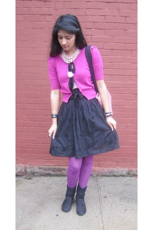 bubble gum Avon bag - hot pink Forever21 sweater - amethyst H&M tights