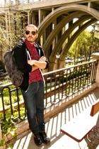 American Apparel - vintage shirt - H&M jeans - Dr Martens boots - American Appar