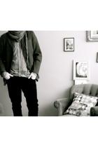 vintage - Levis vintage shirt - H&M - vintage belt - Zara scarf - asos shoes