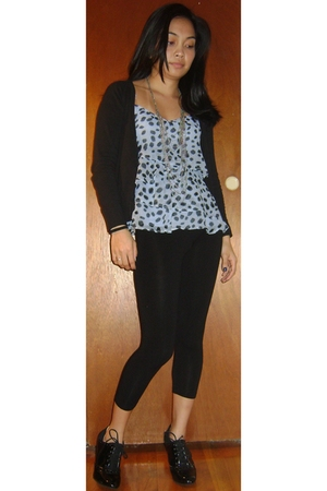 H&M top - Forever 21 leggings - H&M sweater - Forever 21 necklace - payless shoe
