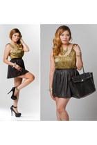 Ooh La Luxe skirt - platform heels Halston Heritage shoes