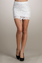 White Lae Skirt Skirts