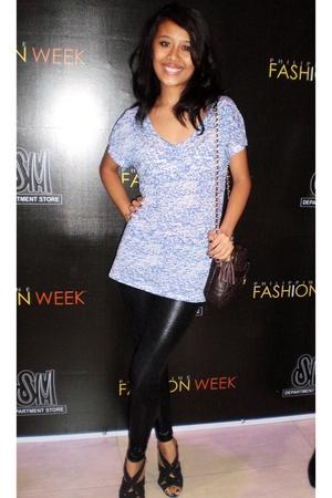 Zara shirt - SM leggings - Chanel purse - shoes