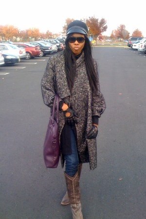 Zara jacket - Steve Madden boots - banana republic jeans - Tiffany&Fred purse