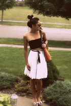 Forever 21 skirt - Maurizio Taiuti purse - coach heels - Forever 21 glasses