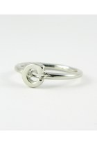 Platinum Silver Stackable C Ring