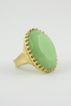 Green facet Ring
