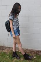 Dr Martens boots - ascolour shirt - Levis shorts