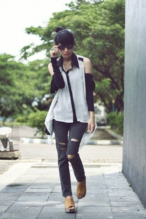 chiffon unbranded top - Forever21 jeans