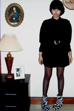 black flea market dress - black unbranded shoes