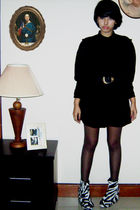 black flea market dress - black unbranded shoes