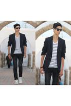 Zara shirt - Converse shoes - H&M jeans - Zara vest