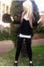 black bardot shirt - black satin trim supre blazer - white bonds t-shirt