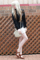 kaviar blazer - Sportsgirl purse - tony bianco shoes - supre dress