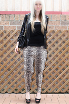 black lace back Dotti top - black Urban Soul shoes - black SUPRÉ jacket