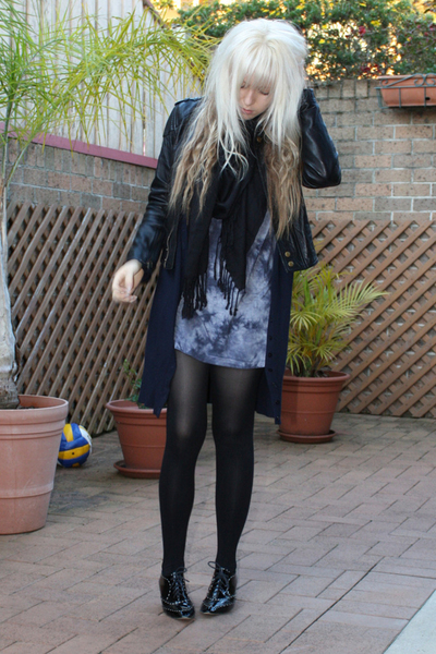 Witchery sweater - scarf - bardot shirt - joanie loves chachi jacket
