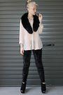 Beige-bardot-shirt-black-cotton-on-pants-black-topshop-shoes-black-collar-