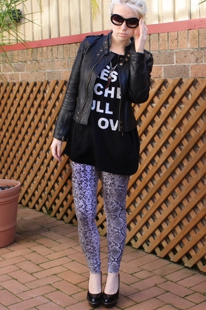 joanie loves chachi jacket - Luna sweater - Siren shoes - Chanel sunglasses - su