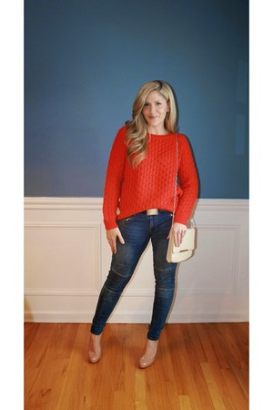 H&M sweater - Mossimo jeans - Christian Louboutin heels