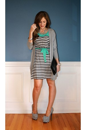 Charlotte Russe dress - boyfriend Apt 9 sweater - Steve Madden bag