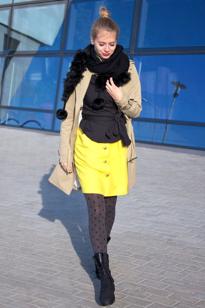 Tommy Hilfiger coat - Calzedonia tights