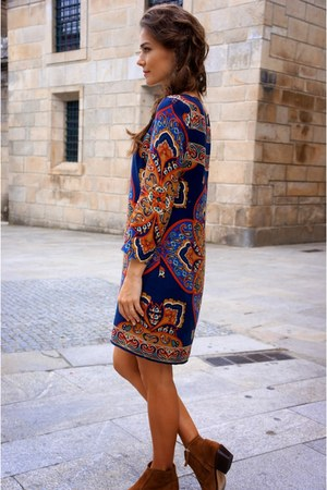camel Massimo Dutti boots - blue Massimo Dutti dress