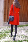 Heather-gray-comptoir-des-cotonniers-shoes-black-max-co-dress-red-zara-coat