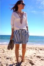 Zara shorts - Zara blouse - Zara flats