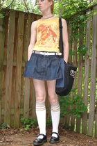 Hot Topic shirt - kohls skirt - idk belt - Target socks - Dr Martens shoes
