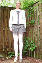 Victorias Secret top - American Eagle skirt - talbots jacket - Claires tights -