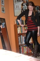 forever 21 blazer - Express leggings - Bakers boots