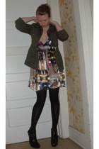 H&M dress - H&M jacket - sam edelman shoes