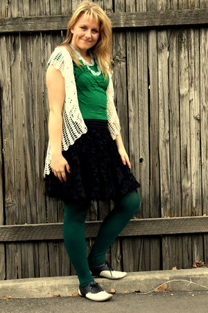 forest green green We Love Colors tights