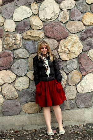 ruby red Anthropologie skirt