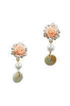 Pearl Rose Shell Stud Earrings