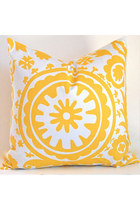 yellow pillowcase home decor