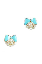 Bow on Pearls Stud Earrings (More Colors)
