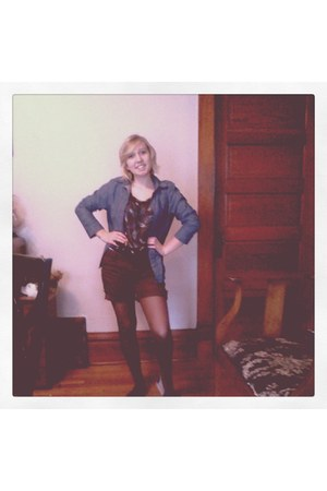 dark brown Forever 21 blouse