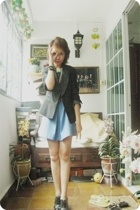 g2000 blazer - vintage top - skirt - Charles &amp; Keith boots - vintage belt - Tops