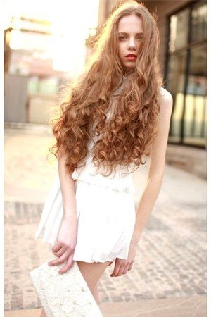 cream white dress