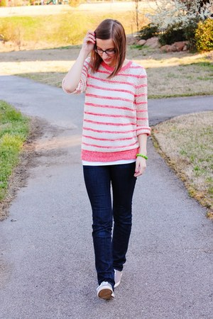 sneakers Target shoes - striped Target sweater - tank top Forever 21 top