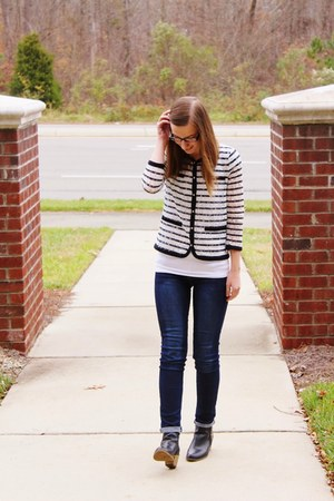 lace ann taylor jacket - ankle boots Target shoes - skinny Ross jeans