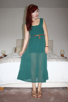teal maxi dress OASAP dress