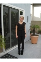 forever 21 shirt - Joes Jeans jeans - Ami Club Wear boots - simply vera wang hat