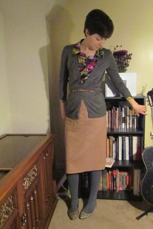 magenta missoni for target blouse - light brown vintage belt