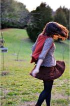dark brown music festival skirt - light brown Elle for Kohls boots