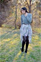 periwinkle vintage from my mum skirt - black Target socks