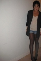H&M blazer - sweater - Zara shorts - - Zara