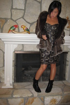 thrifted dress - moms - Sigerson Morrison
